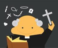 Sacerdote con l'incrocio Immagini Stock Libere da Diritti