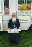 Sacerdote ortodosso orientale fotografie stock