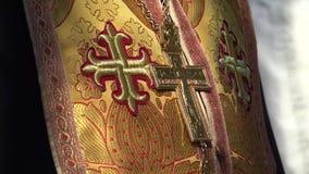 Sacerdote ortodoxo del este almacen de video