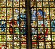 Sacerdote Slaves Stained Glass De Krijtberg Church Amsterdam Holland Netherlands fotografie stock libere da diritti