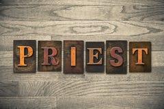 Sacerdote Wooden Letterpress Theme fotografie stock libere da diritti