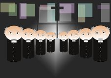 Sacerdotes Imagen de archivo