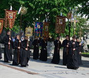Sacerdotes ortodoxos Fotos de archivo