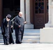 Sacerdotes ortodoxos griegos foto de archivo