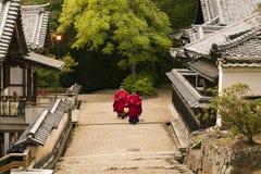 Sacerdoti nel Kasuga a Nara fotografia stock libera da diritti
