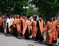 Sacerdoti ortodossi Fotografie Stock