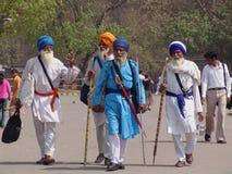 Sacerdoti sikh a Delhi Fotografia Stock Libera da Diritti