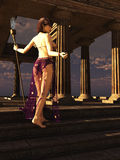 Sacerdotisa del templo de la fantasía Imagen de archivo libre de regalías