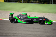Sacha Fenestraz drives a Formula Renault 2.0 at Monza. The Autodromo Nazionale Monza hosted the first race of 2017 Eurocup Formula Renault 2.0 Stock Image