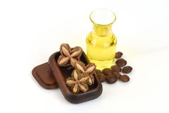 Sacha inchi, Sacha inchi, Sacha mani, Inca peanut oil from seeds and Sacha. Stock Image