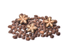 Sacha inchi, sacha mani or star inca peanut seed on white backgr Stock Photo