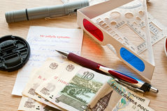 Sachen auf der Tabelle Lizenzfreies Stockfoto
