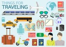 Sachen für das Reisen Stockfoto