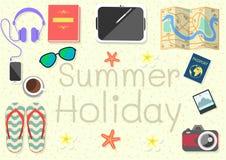 Sachen für das Reisen an Ihrem Feiertag Stockbilder