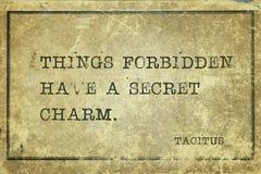 Sachen verbotener Tacitus lizenzfreie stockfotografie