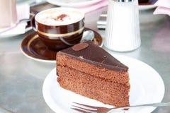 Sacher奶油蛋糕 免版税库存图片