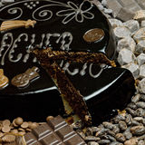 Sacher cake Royalty Free Stock Photos
