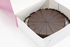 Sacher cake in box Stock Image