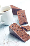 Sacher cake and coffee Stock Photos