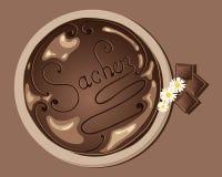 Sacher cake Stock Images