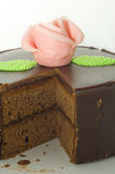 Sacher chocolate cake Stock Image
