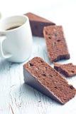 Sacher kaka och kaffe Arkivfoton