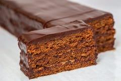 Sacher kaka - traditionell österrikisk chokladefterrätt arkivfoton
