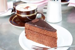 Sacher-Torte Lizenzfreies Stockbild