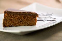 Sacher torte Arkivfoto