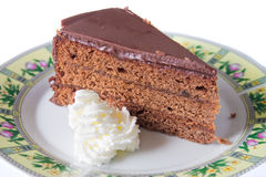 Sacher Torte cake Stock Photography