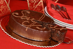Sacher torte chocolate cake Royalty Free Stock Photography