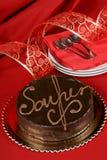 Sacher torte Schokoladenkuchen Stockfotografie