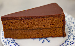 Sachertorte in Austria Fotografie Stock