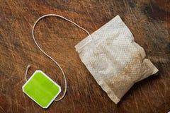 Sachet à thé. Image stock