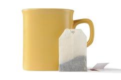 sachet à thé de cuvette Photos stock