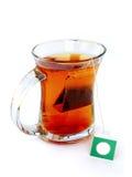 sachet à thé de thé de cuvette photo libre de droits
