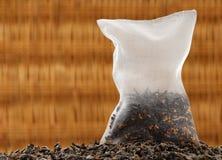 Sachet à thé en soie de maïs Photo stock