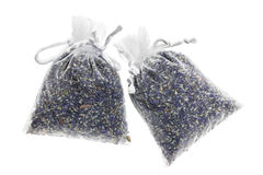 Sachet with dried lavender Royalty Free Stock Photo