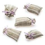 Sachet with dried lavender Stock Photography