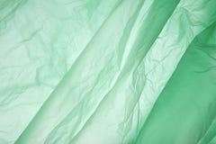 Sachet en plastique Fond abstrait pâle de couleur verte Vert avec l'espace de copie pour le texte photographie stock libre de droits