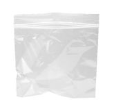 Sachet en plastique rescellable d'isolement Photographie stock