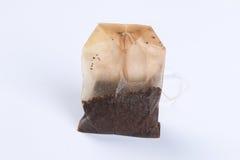 Sachet à thé humide utilisé Photographie stock libre de droits