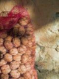 Sachet of Walnuts Royalty Free Stock Photography