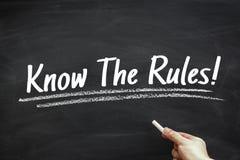 Sachez les règles Images stock