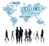 Sachkenntnis-Perfektions-globales Wachstums-Konzept der hervorragenden Leistung Stockbilder