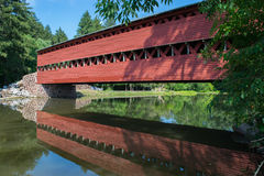 Sachs Bridge With Reflection In the Water in Gettysburg, Pennsylvania Royalty Free Stock Image