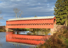 Sachs Covered bridge. This is Sachs Covered Bridge in Gettysburg, Pennsylvania on a sunny Fall day Stock Photo
