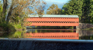 Sachs Covered bridge. This is Sachs Covered Bridge in Gettysburg, Pennsylvania on a sunny Fall day Royalty Free Stock Photo