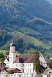 SACHSELN,瑞士欧洲- 9月22日:圣Theodu看法  库存照片