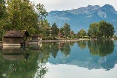 SACHSELN,瑞士欧洲- 9月22日:Sarner的看法 免版税库存图片